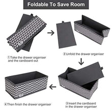 Load image into Gallery viewer, 12 PCS Drawer Organiser Dresser Fabric Storage Box Foldable Wardrobe Storage Organiser Drawer Dividers Storage Cubes for Bras, Socks, Underwear, Ties, Scarves, Cosmetics (Grey) - iBuy Africa