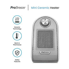Load image into Gallery viewer, Pro Breeze® Mini Heater - Ceramic Fan Heater perfect for Desks and Tables - Personal PTC Heater, White - iBuy Africa