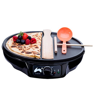Ovation 1000W Crepe and Pancake Maker with Batter Spreader, Ladle & Spatula - iBuy Africa