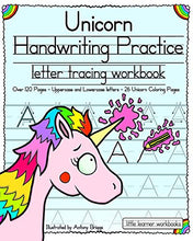 Load image into Gallery viewer, Unicorn Handwriting Practice: Letter Tracing Workbook (Little Learner Workbooks) - iBuy Africa