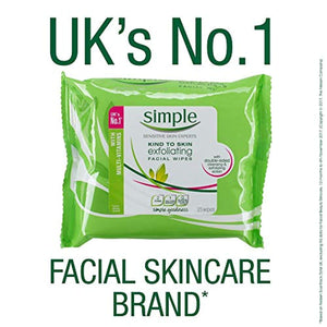 Simple Exfoliating Face Wipes, Kind to Skin, 2-Month Supply  (6 x 25 Wipes) - iBuy Africa