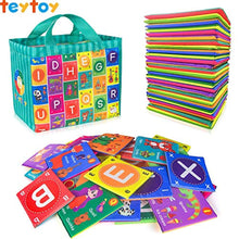Load image into Gallery viewer, teytoy Baby Soft Alphabet Cards Toys, Baby Early Learning Shape Color Recognition Puzzle Toy with Storage Bag, Washable Soft Cloth Toy for Over 0 Years - iBuy Africa