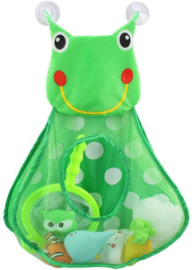 Baby Bath Toy Organizer Cute Animal Shape,Bathroom Toy Storage Net Bag with Strong Suction Cups,Keep Kids Bathtub Toys Dry and Neat Green Frog - iBuy Africa
