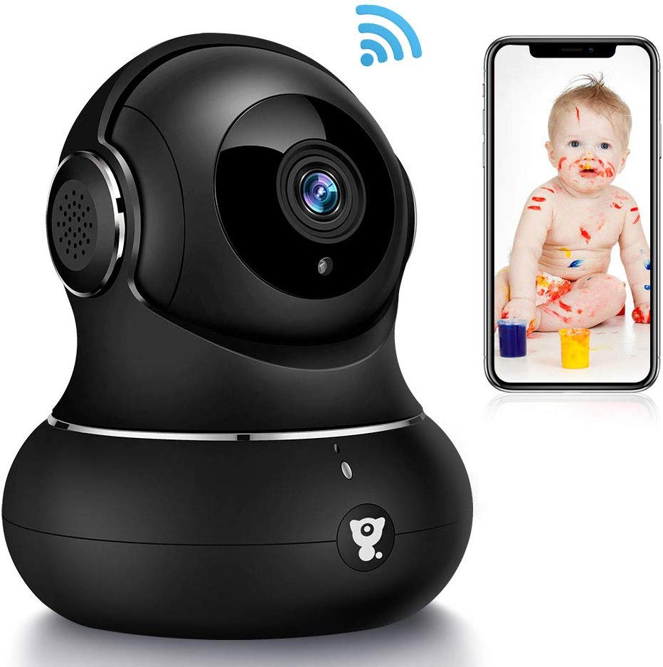 littlelf Wireless Camera Indoor, 1080P Smart Wifi Camera Home Security Pet Monitor with Motion Tracking, Night Vision, 2-Way Audio for Pet/Baby/Elder Works With Alexa - iBuy Africa