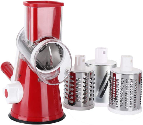 Ourokhome Vegetable Chopper Slicer Dicer - 12-in-1 Fruits Cutter Mandoline Slicer Food Chopper/Cutter with 7 Stainless Steel Blades, Adjustable Slicer & Dicer with Storage Container Red Grater - iBuy Africa