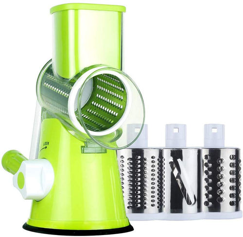Ourokhome Vegetable Chopper Slicer Dicer - 12-in-1 Fruits Cutter Mandoline Slicer Food Chopper/Cutter with 7 Stainless Steel Blades, Adjustable Slicer & Dicer with Storage Container Green Grater - iBuy Africa