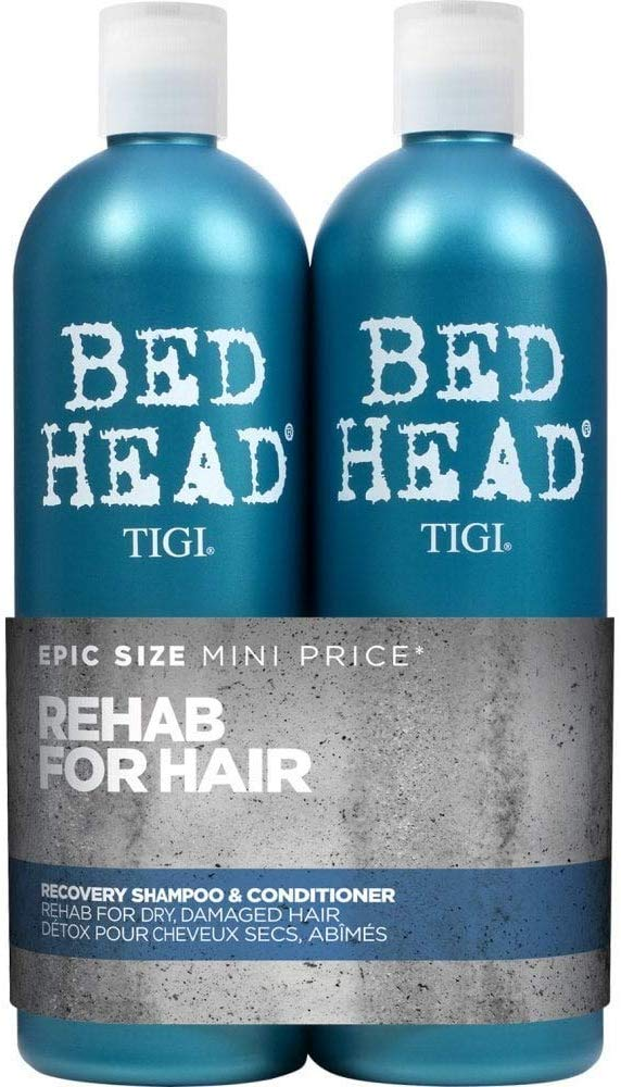 Bed Head by Tigi Urban Antidotes Recovery Moisture Shampoo and Conditioner, 750 ml, Pack of 2 - iBuy Africa