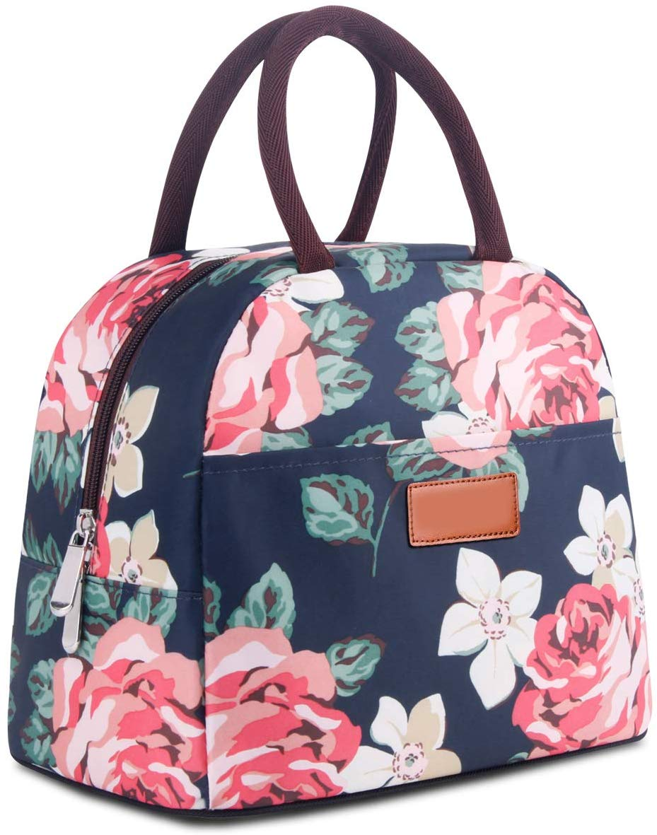 OPOLEMIN Lunch Tote Bag Insulated Lunch Bag for Women Water-Resistant Insulated Lunch Tote Bag (Peony) Peony - iBuy Africa