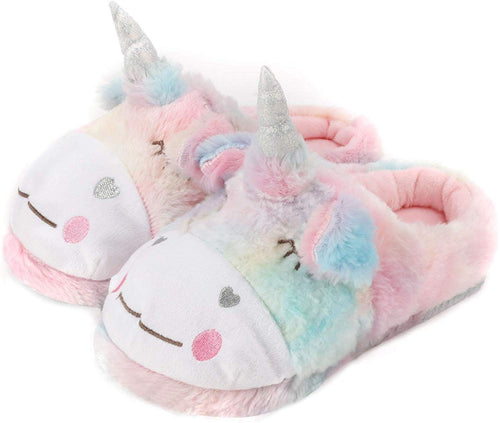 Ladies Fluffy Novelty Plush Unicorn, Sheep Animal Slippers, Soft Fleece Lining, Indoor Outdoor Slipper - iBuy Africa