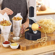 Load image into Gallery viewer, KKWLELEL Electric Potato Peeler [2 Extra Blades] - Automatic Rotating Fruits & Vegetables Cutter Apple Paring Machine - Kitchen Peeling Tool - iBuy Africa