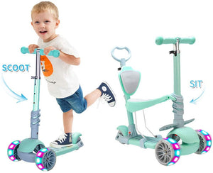5 In 1 Kids Kick Scooter,Adjustable Scooter for Toddlers 1-6 Years Old Boy and Girls Support 50 kg - iBuy Africa