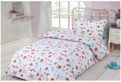 SleepyNights Junior Cot Bed Duvet Cover and Pillow Set Woodland Creatures - iBuy Africa