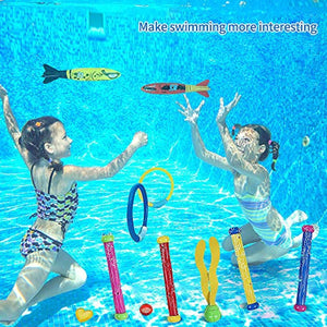 SPECOOL Diving Toys,5pcs Dive Sticks┃4pcs Dive Rings┃4pcs Toypedo Bandits┃6pcs Diving Gemstones┃3pcs Floating Streamers Underwater Swimming Pool Toys Summer Diving Game Gift for Kids Boys Girls - iBuy Africa