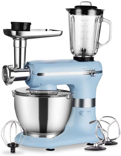 Aifeel Die-cast Stand Mixer - 1500W 2 in 1 Multi Functional Kitchen Machine with 5.5L Food Grade Bowl, Food Grinder, Full Set Maker Accessories - 8 Speed Settings and LED Display - Black Aifeel Kitchen Mixers - 1200w 3 in 1(blue) - iBuy Africa