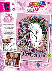 Sequin Art 1720 Unicorn Craft Project From The Craft Teen Range 28 x 37 Centimetres - iBuy Africa