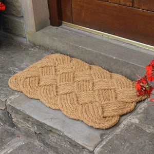 JVL Natural Hand Made Knotted Rope Coir Door Mat - iBuy Africa