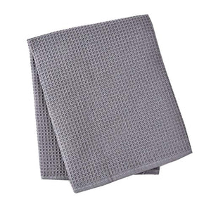 Classic Tea Towels,100% Cotton Kitchen Towels,Waffle Weave Dish Cloths,Vintage Design,3 Pack In Large Size 45x65cm (Grey) - iBuy Africa