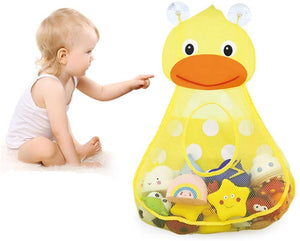 Baby Bath Toy Organizer Cute Animal Shape,Bathroom Toy Storage Net Bag with Strong Suction Cups,Keep Kids Bathtub Toys Dry and Neat Yellow Duck - iBuy Africa