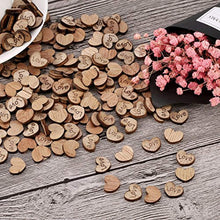 Load image into Gallery viewer, 300 Pack Rustic Mini Wooden Heart Shaped Log Slices Art Craft with Love Pattern for Wedding Party Decoration - iBuy Africa