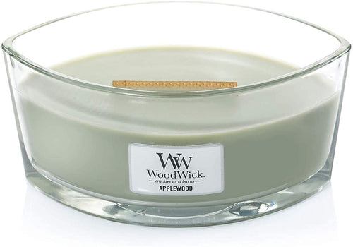 WoodWick Ellipse Scented Candle with Crackling Wick | Willow | Up to 50 Hours Burn Time Applewood - iBuy Africa