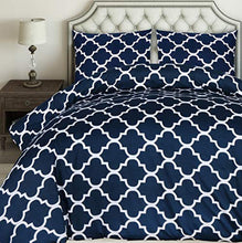 Load image into Gallery viewer, Utopia Bedding Printed Duvet Cover Set - Brushed Microfibre Duvet Cover with 2 Pillowcases (Navy Blue, King) - iBuy Africa