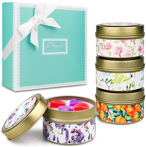 YMing Scented Candles Lavender, Lemon, Mediterranean Fig, Fresh Spring,Natural Soy Wax Portable Travel Tin Candle,Set Gift of 4 6 - Touch Your Heart - iBuy Africa