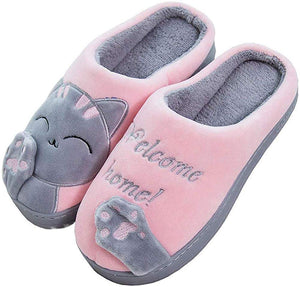 Winter Slippers House Slippers Cute Indoor Faux Fur Anti-Slip Warm Plush Home Shoes for Women and Men - iBuy Africa