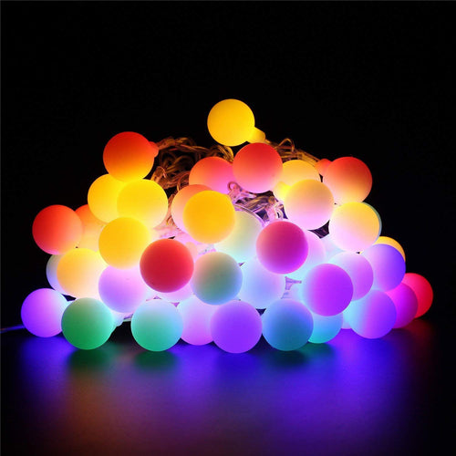 XIANGLIOOD 10 Meter 100 Led Flower Leaf Rattan Garland Battery Operated Copper LED Fairy String Lights for Wedding Decoration Party Event (10M Colorful Ball&Remotecontrol) - iBuy Africa