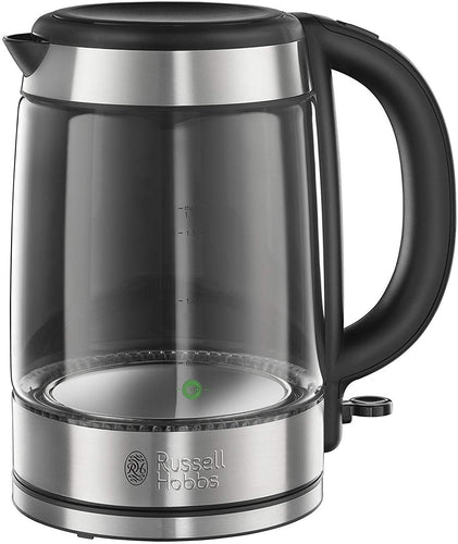 Russell Hobbs 21600-10 Illuminating Glass Kettle, Black, 1.7 Litre, 3000 Watt - iBuy Africa