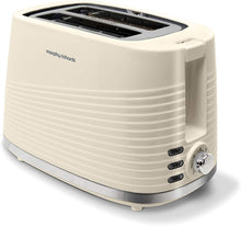Load image into Gallery viewer, Morphy Richards 220026 Dune 2 Slice Toaster Defrost and Re-Heat Settings, Black, white, green and cream - iBuy Africa