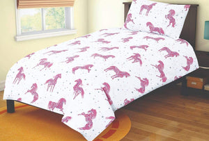 SleepyNights Junior Cot Bed Duvet Cover and Pillow Set Sparkly Horse - iBuy Africa