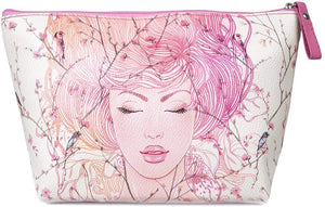 TaylorHe Make-up Bag Cosmetic Case Toiletry Bag Printed PVC zipped top Classic Vintage Roses on Green Girl - iBuy Africa