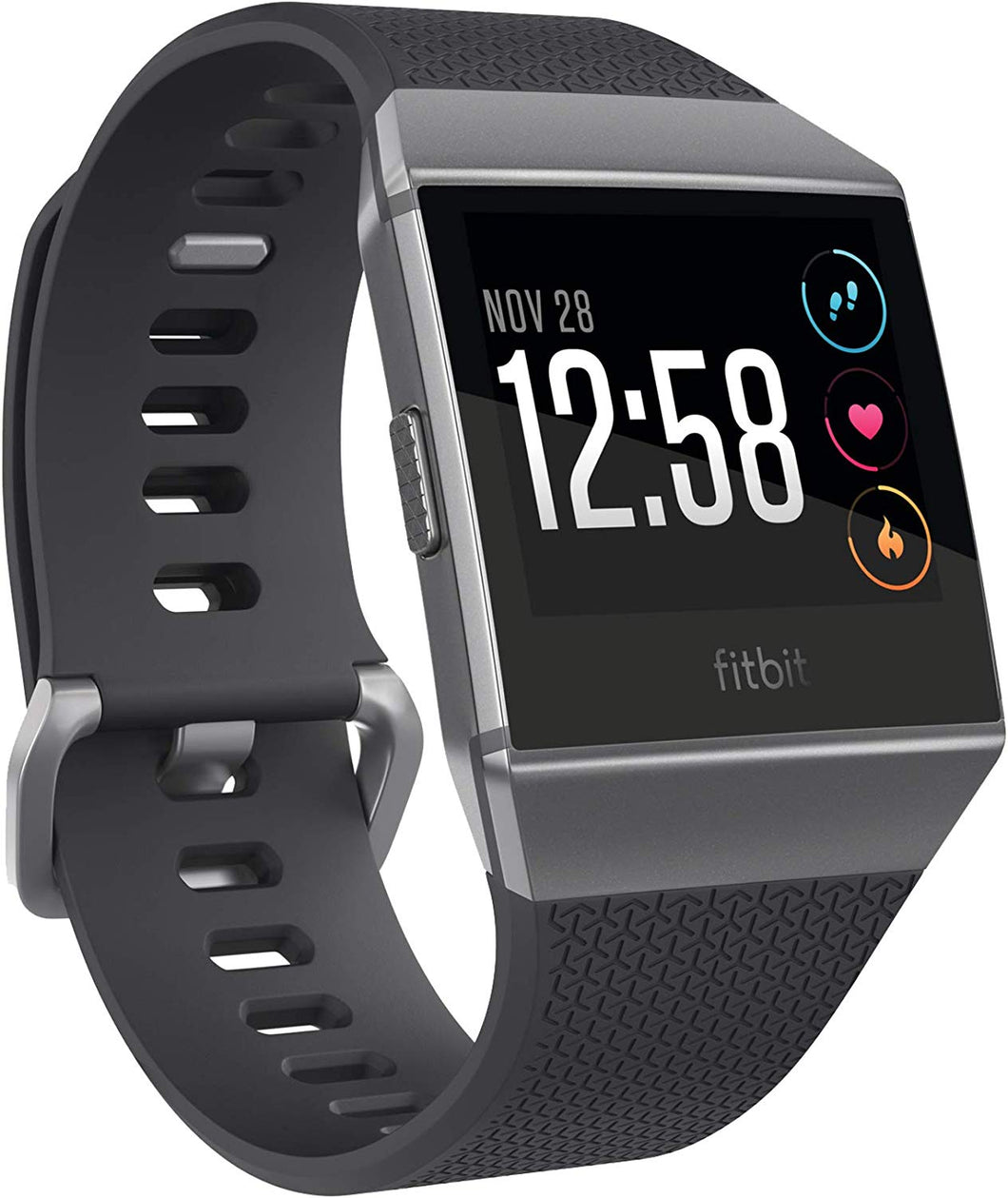 Fitbit Ionic Health & Fitness Smartwatch (GPS) with Heart Rate, Swim Tracking & Music - Adidas Edition (Ink Blue/Ice Grey) - iBuy Africa