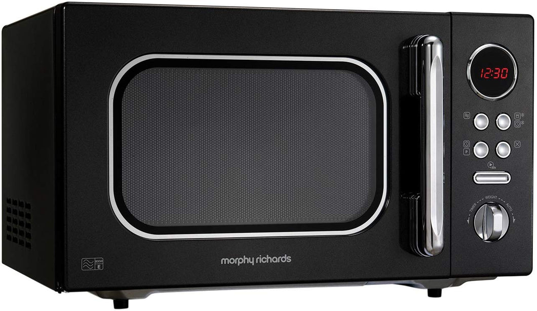 Morphy Richards Microwave Accents Colour Collection Digital Solo Microwave Black - iBuy Africa