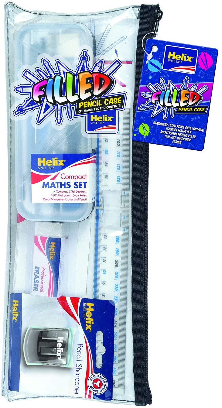 Helix Complete Stationery Set in 13.5 inch Pencil Case HELIX - iBuy Africa