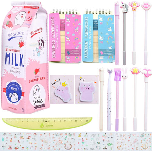 18 Pcs Unicorn Flamingo Stationery Set Style 3 - iBuy Africa