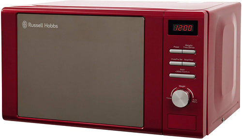 Russell Hobbs Heritage Digital 800w Solo Microwave, 20 Litre - Black Red - iBuy Africa