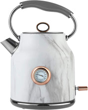 Load image into Gallery viewer, Tower Bottega Rapid Boil Traditional Kettle with Temperature Dial, Boil Dry Protection, Automatic Shut Off, Black and Rose Gold - iBuy Africa