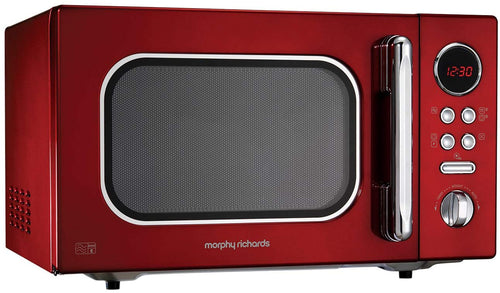 Morphy Richards Microwave Accents Colour Collection Digital Solo Microwave Red - iBuy Africa