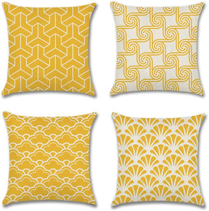 Artscope Mordern Simple Geometric Style Cushion Cover 45 x 45 cm Square Pillowcase Yellow - iBuy Africa