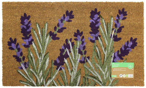Garden Themed Latex Backed Natural Coir Entrance Door Mat Lavender - iBuy Africa