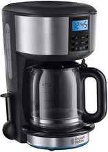 Load image into Gallery viewer, Russell Hobbs Buckingham Filter Coffee Machine, 1.25 Litre, Black/Silver - iBuy Africa