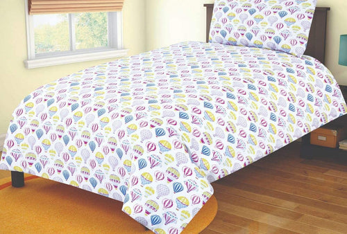 SleepyNights Junior Cot Bed Duvet Cover and Pillow Set Balloons - iBuy Africa