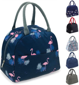 TOPSEFU Lunch Bag Tote Bag for Women Wide Open Insulated Cooler Bag Water-Resistant Thermal Leak-Proof Lunch Organizer for Men Girls Children Outdoor Picnic Work (Flamingo) Navy Blue - iBuy Africa