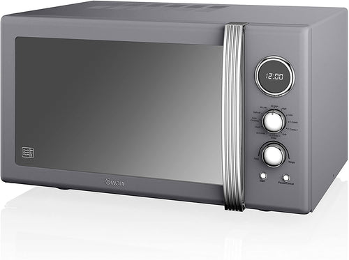 Swan Retro Microwave with 3 Power levels and 6 Programmes - iBuy Africa