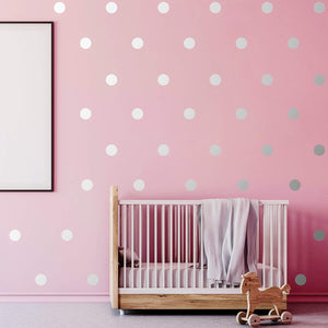 Wall Decal Dots (200 Decals) Posh Dots Easy Peel and Stick - Removable Metallic Vinyl Polka Dot Decor, Round Circle Wall Decal Stickers for Festive Baby Nursery Room (Rose Gold) - iBuy Africa