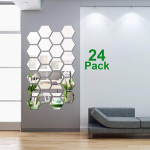 32 Pieces Removable Acrylic Mirror Setting Wall Sticker Decal for Home Living Room Bedroom Decor (Style 1, 32 Pieces) - iBuy Africa