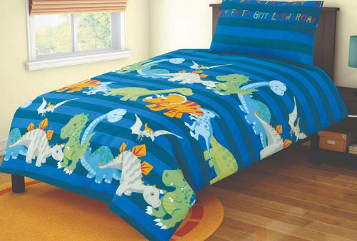 SleepyNights Junior Cot Bed Duvet Cover and Pillow Set Dino Nursery - iBuy Africa