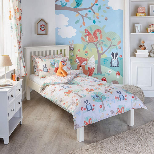 Riva Paoletti Kids Woodland Animals Double Duvet Set - 2 x Pillowcases Included - Reversible - iBuy Africa