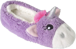 Ladies Enchanting Novelty Unicorn Plush Lined Ballet Ballerina Mule Slipper with Fabric Non-Slip Sole - iBuy Africa